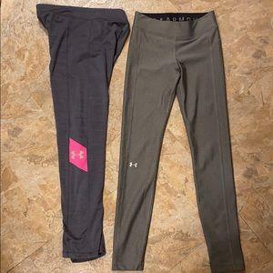 Bundle (2) Under Armour Heatgear/Coldgear Leggings